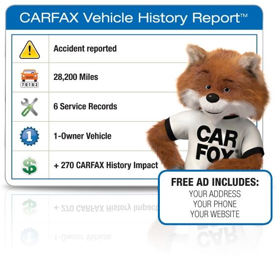Free CARFAX Vehicle History Report